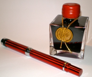 FC M27 in Radiant Red with J Herbin '1670' Rouge Hematite ink