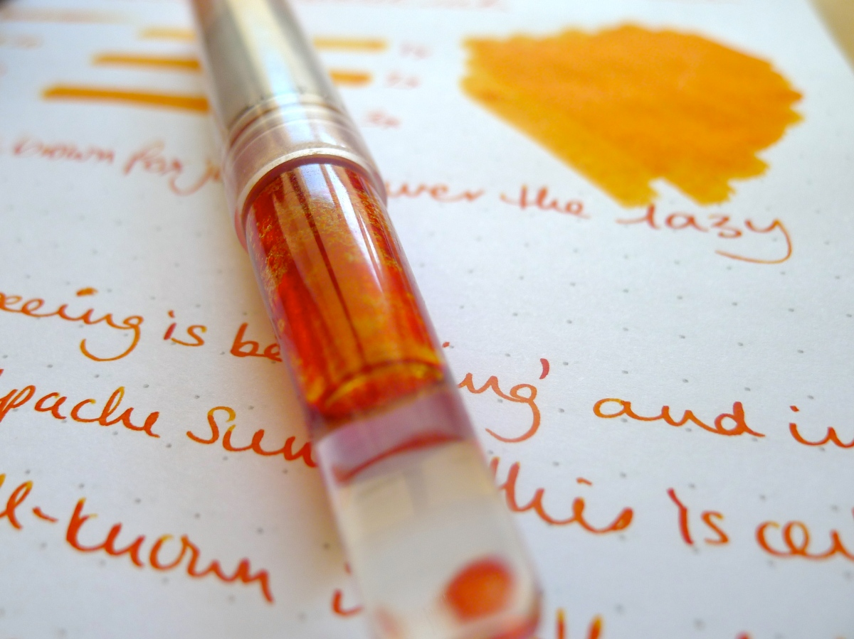 Orange is the new black: A short review of Noodler's Apache Sunset